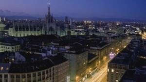 Milano-Vista di sera